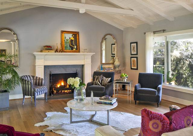 Contemporary Transitional Living Room Eclectic