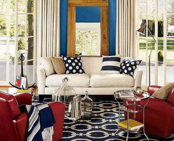 Contemporary Uses Red White Blue Home Stories