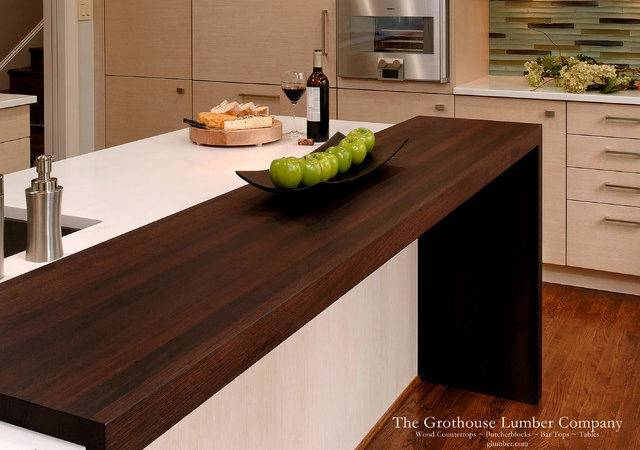 Contemporary Wenge Dark Wood Countertop Grothouse
