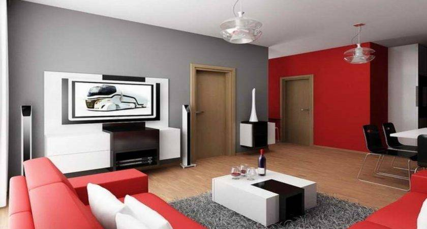 Cool Apartment Decorating Ideas Grey Black Red