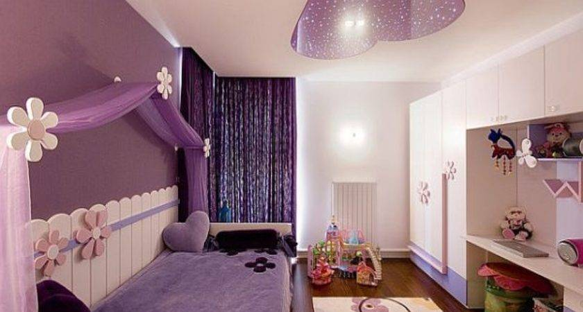 Cool Bedrooms Teenage Girls Purple Color Best