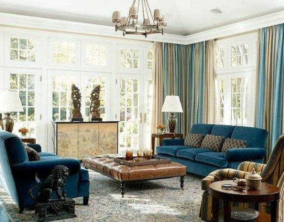 Cool Brown Blue Living Room Designs Digsdigs