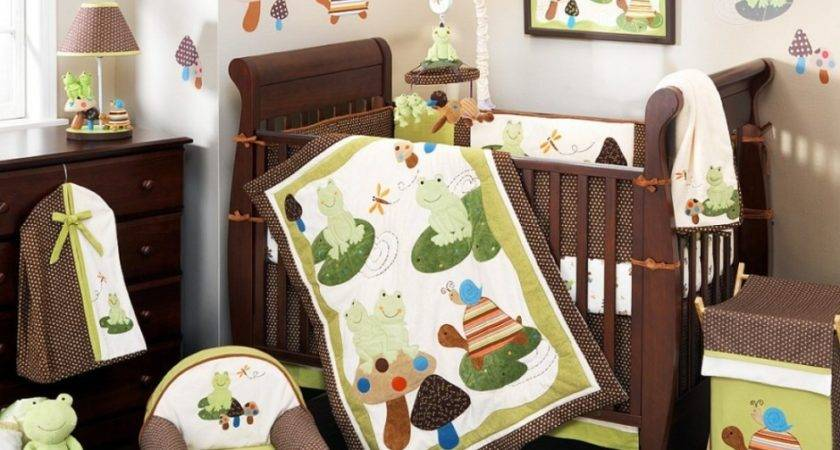 Cool Nursery Bedding Sets Jungle Theme Brown