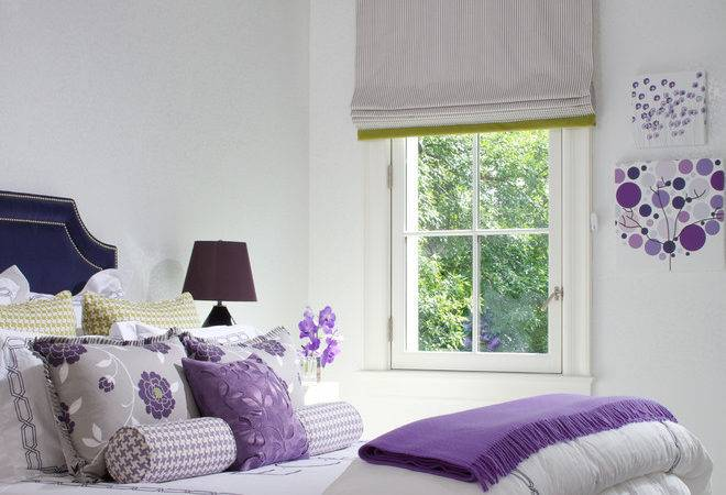 Cool Purple White Rooms