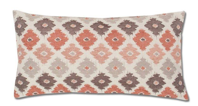Coral Brown Flowers Throw Pillow Crane Canopy