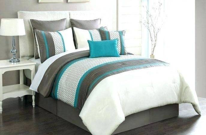Coral Comforter Twin Light Blue