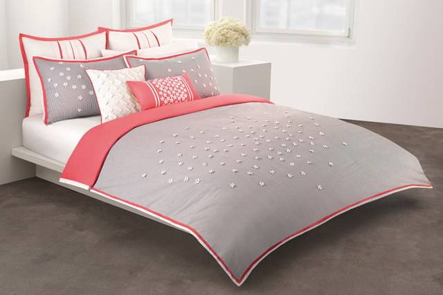 Coral Gray Bedding