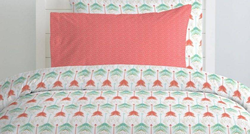 Coral Teal Arrow Kids Bedding Carousel Designs