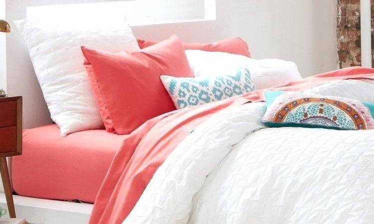 Coral White Bedding Bedroom Large