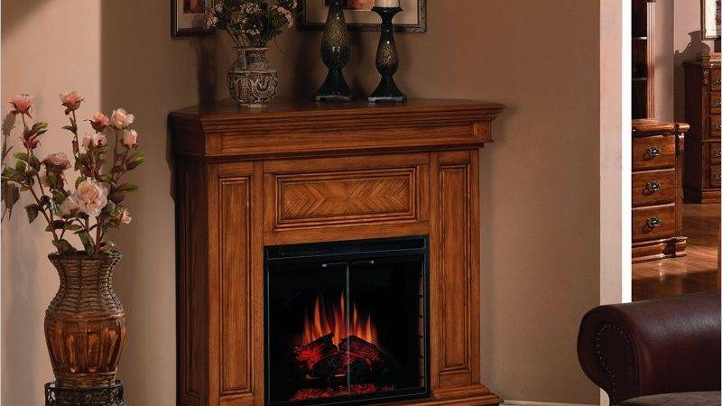 Corner Electric Fireplace Suitable Small Rooms