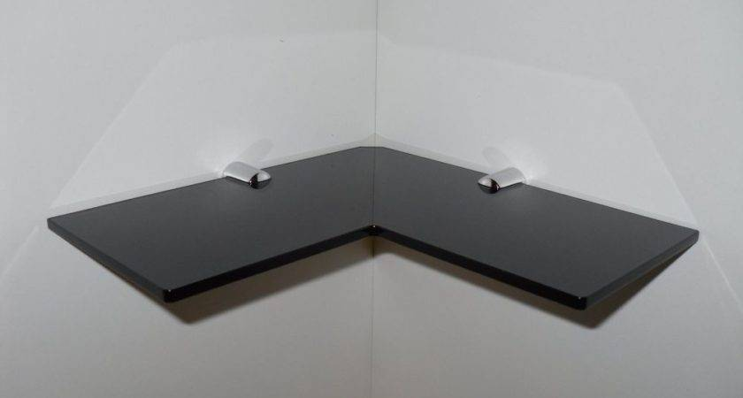 Corner Shelf Black Acrylic Safety Bathroom