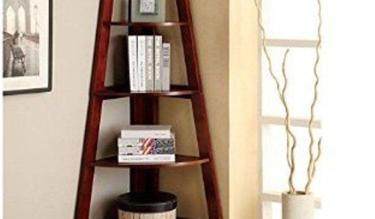 Corner Shelf Stand Wood Shelves Display Storage