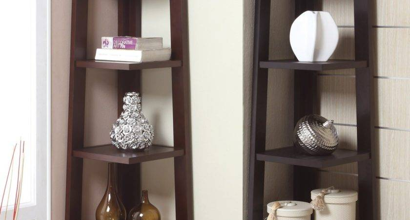 Corner Tower Shelf Available Walnut Black