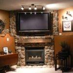 Corner Wall Mount Flat Screen Above Stone