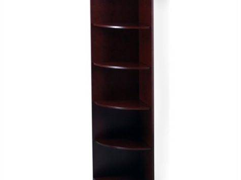 Corsica Shelf Quarter Round Corner Wood Bookcase