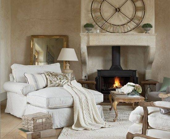 Cosy French Style Living Room Decorating