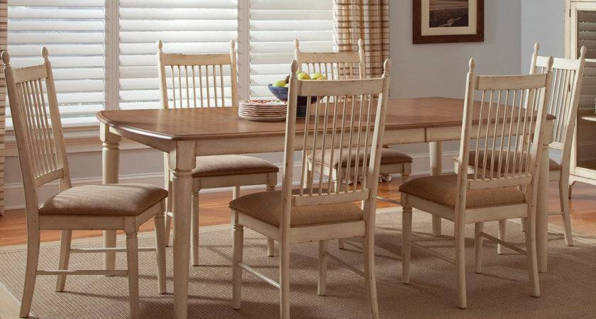 Cottage Cove Ivory Finish Casual Dining Room Set