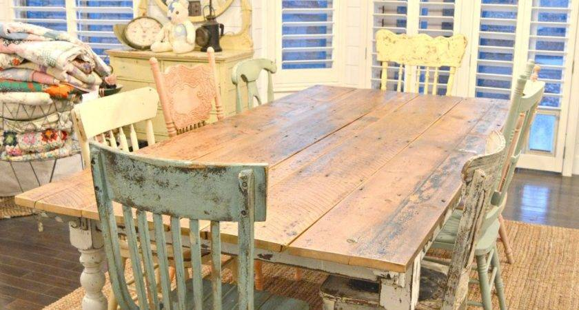 Cottage Style Dining Room Tables Rustic Farmhouse Table