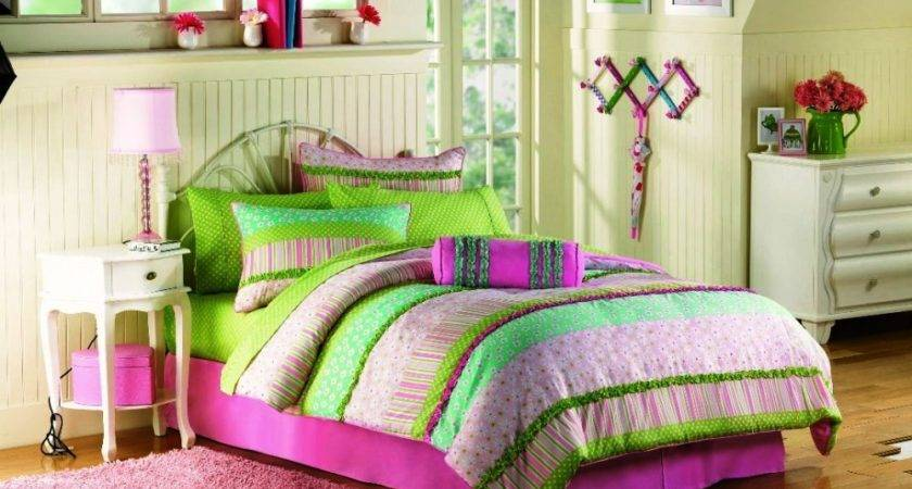 Country Bedroom Design Multi Colored Teenage Girl Bed