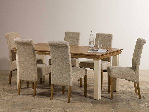 Country Cottage Natural Oak Painted Dining Set