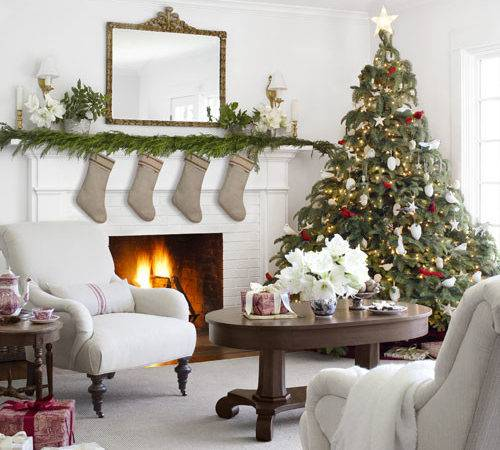 Country Farmhouse Christmas White Decor Ideas