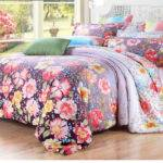 Country Floral High Quality Best Purple Comforter Sets