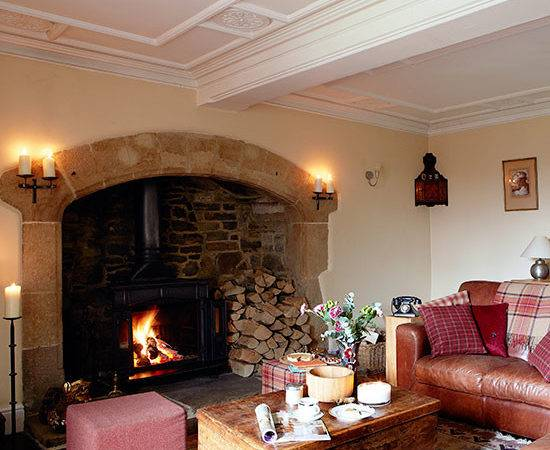 Country Living Room Inglenook Fireplace