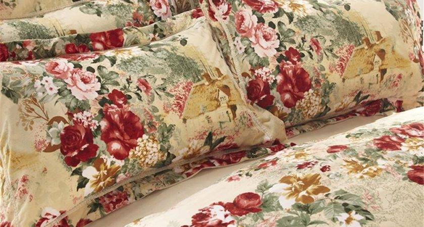Country Style Flower Print Sandedcloth Material Piece