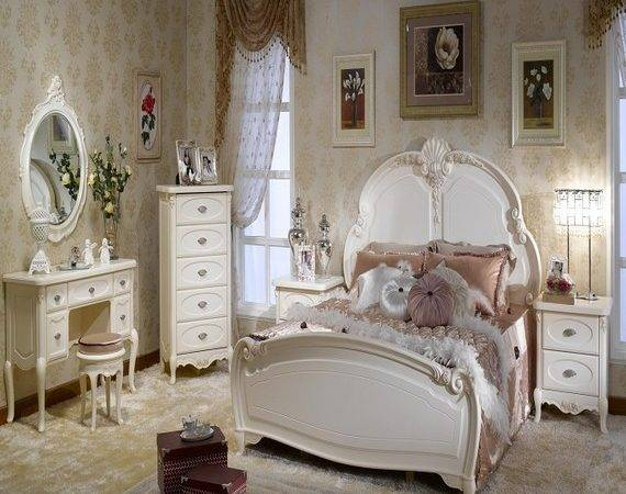 Country Style Office Furniture White French Bedroom