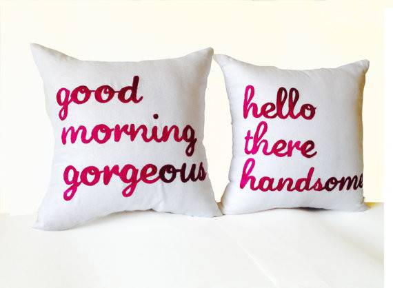 Couple Pillow Cover Good Morning Gorgeous Hello There