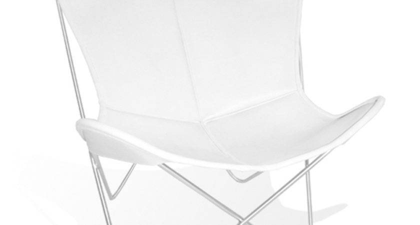 Cover Hardoy Butterfly Chair Original Leather White