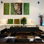 Cowhide Patchwork Rugs Contemporary Home Decor Modern