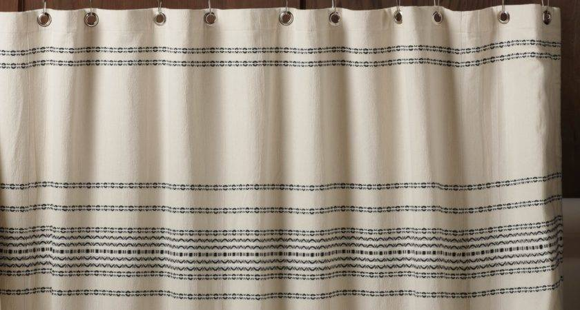Coyuchi Rippled Stripe Cotton Shower Curtain Reviews