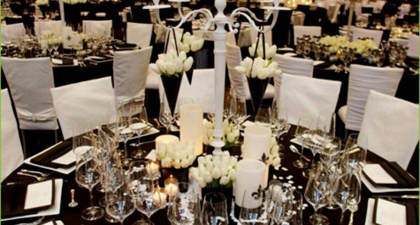 Cozy Black White Table Decorations Weddings