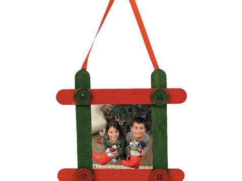 Craft Stick Frame Christmas Ornament Kit