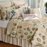 Cream Beach Theme Comforter Set Valance Combined