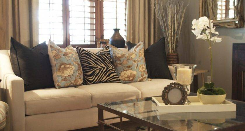 Cream Curtains Grey Wall Sitting Room Chairs
