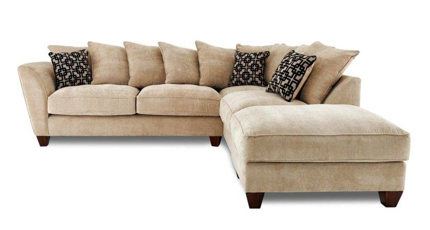 Cream Gold Corner Sofa Menzilperde