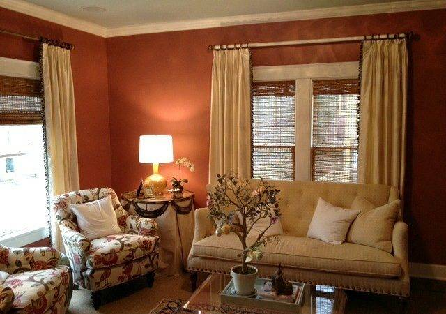 Cream Silk Curtain Panels Trim Down Leading Edge