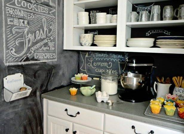 Create Chalkboard Kitchen Backsplash Hgtv
