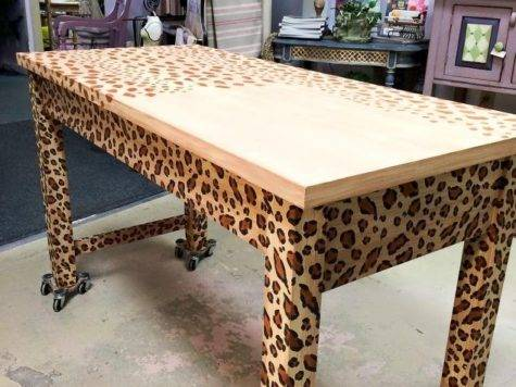 Create Fabulous Hand Painted Leopard Print Finish