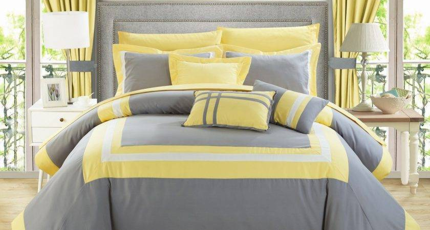 Create Grey Yellow Bedroom Easily