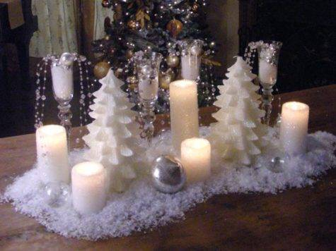 Create Snowy Candle Centerpiece Hgtv