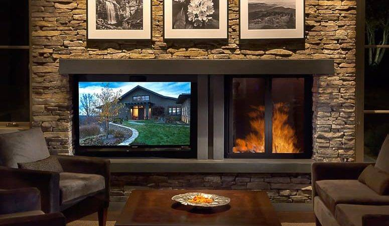 Creating Balance Between Fireplace Television