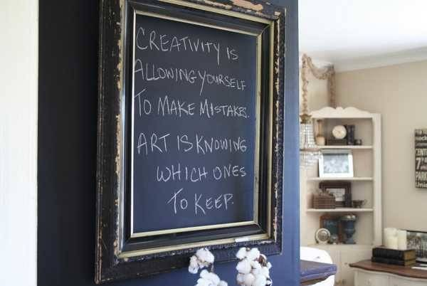 Creative Interior Decorating Ideas Black Chalkboard