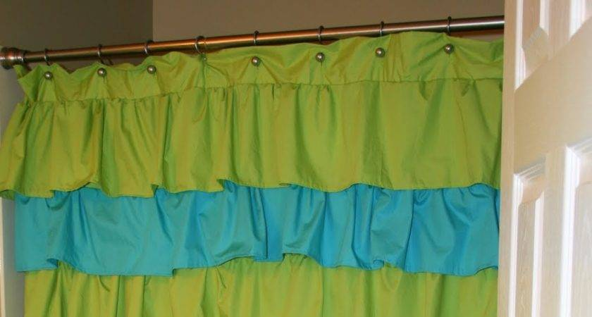 Creative Juices Ruffle Shower Curtain