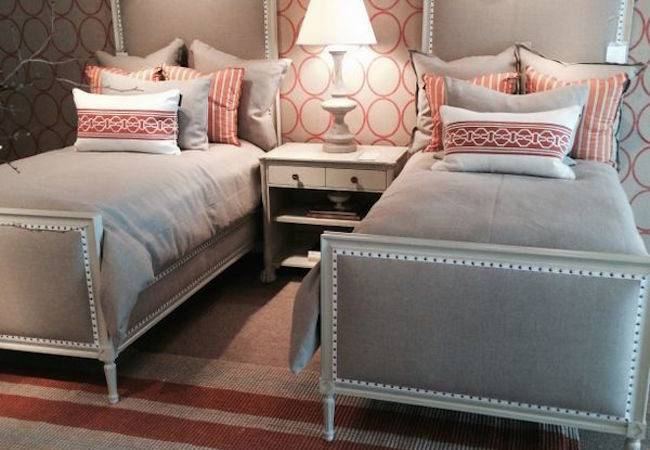 Creative Pattern Guest Room Twin Beds