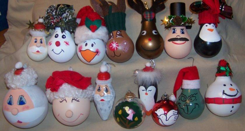 Creative Side Recycled Light Bulb Ornaments