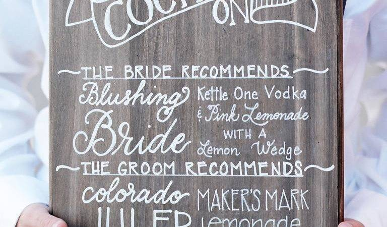 Creative Wedding Sign Ideas Your Bar