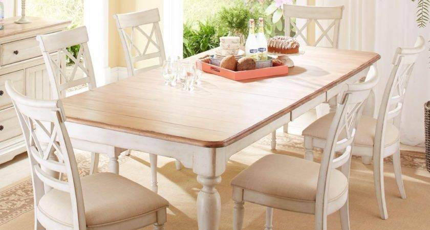 Cresent Fine Furniture Cottage Piece Table Self